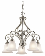 Kichler 43158NI Monroe Downlight Medium 27 Inch Diameter Brushed Nickel Lighting Chandelier