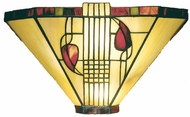 Dale Tiffany 2725-1-LTW Mission 1 Light 14 inch Tiffany Wall Sconce
