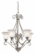 Kichler 43224NI Camerena Small 5 Lamp 27 Inch Diameter Chandelier - Brushed Nickel