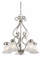 Kichler 43225NI Camerena 2 Tier Brushed Nickel Downlight Hanging Chandelier - 5 Lamps