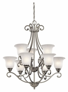 Kichler 43226NI Camerena Large 30 Inch Diameter Brushed Nickel Brushed Nickel Chandelier