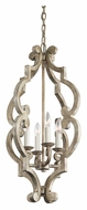 Kichler 43255DAW Hayman Bay Distressed Antique White Mini Candle Chandelier