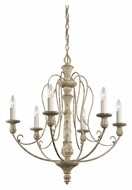 Kichler 43257DAW Hayman Bay 6 Candle 27 Inch Diameter Traditional Chandelier Lighting