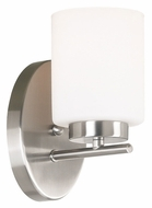 Kenroy Home 80401BS Mezzanine Brushed Steel Finish 8 Inch Tall Wall Light