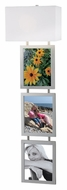 Kenroy Home 32018BS Studio 45 Inch Tall Picture Frame Wall Sconce - Brushed Steel