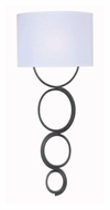 Kenroy Home 32046WS Circo Weathered Steel Modern Wall Light Fixture
