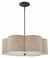 Quoizel CRA2826MC Cloverdale 26 Inch Diameter Mottled Cocoa Finish Drop Ceiling Lighting