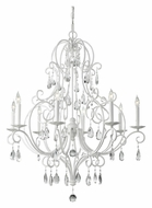 Feiss F2303/8SGW Chateau Blanc Semi Gloss White 8 Candelabra Chandelier - 32 Inch Diameter
