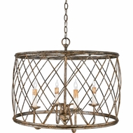 Quoizel RDY2823CS Dury Large 4 Candle 23 Inch Diameter Pendant Lighting