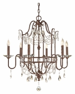 Feiss F2475/6MBZ Gianna Scuro 6 Candle Mocha Bronze Finish Crystal Chandelier Lighting