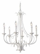 Feiss F2533/6SGW Peyton Saltspray Semi Gloss White Finish 23 Inch Diameter Small Chandelier
