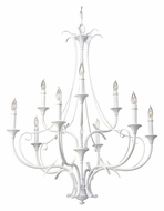 Feiss F2534/6+3SGW Peyton Saltspray Large 9 Candle Semi Gloss White Chandelier Lighting