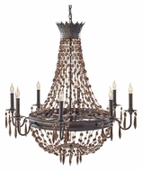 Feiss F2803/8RI Marcia Large 34 Inch Diameter Hanging Chandelier - 8 Candles