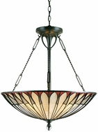 Quoizel TF1816VB Alhambre 4-Light Tiffany Pendant Light in Vintage Bronze
