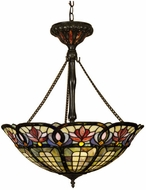 Quoizel TF1438VB Hyacinth 22 inches wide Tiffany Pendant Light in Vintage Bronze