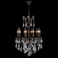 Worldwide W83322F17 Versailles Clear Crystal Flemish Brass 10 Candle Chandelier