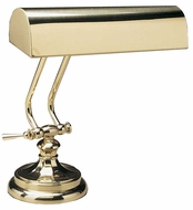 House of Troy P10123 P10-123 Ten Inches Piano Lamp in Polished Brass
