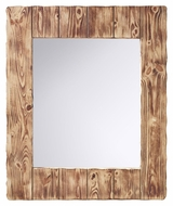 Feiss MR1168SMW Montana 36 Inch Tall Rustic Smoked Wood Finish Wall Mirror