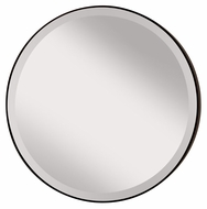 Feiss MR1127ORB Johnson 28 Inch Diameter Bronze Circle Mirror With Beveled Edge