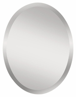 Feiss MR1151 Infinity 28 Inch Tall Simple Beveled Edge Mirror - Oval
