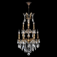 Worldwide W83342B19 Versailles 2 Tier Antique Bronze Chandelier - 20 Candles