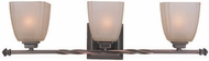 Lite Source LS16289CPBRZ Nita 3-light Traditional Vanity Bathroom Light Fixture