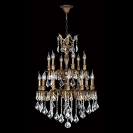 Worldwide W83348B24 Versailles 18 Candle Antique Bronze Lighting Chandelier - 24 Inch Diameter