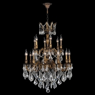 Worldwide W83350B27 Versailles Antique Bronze Finish 18 Candelabra Chandelier Lighting Fixture