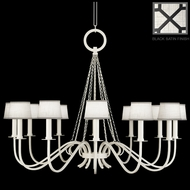 Fine Art Lamps 420840 Black & White Story Traditional 12 Lamp 47 Inch Diameter Chandelier With Shades