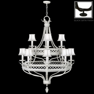 Fine Art Lamps 807240 Black & White Story Antique 12 Light 51 Inch Tall Large Chandelier With Finish Options