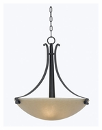 Kenroy Home 91913FGRPH Willoughby 20 Inch Diameter Inverted Pendant Lighting Fixture - Forged Graphite