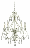Kenroy Home 92046WW Chamberlain 5 Candle Weathered White 21 Inch Diameter Traditional Chandelier