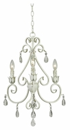 Kenroy Home 92047WW Chamberlain 3 Candle 18 Inch Diameter Mini White Chandelier