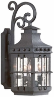 Troy BCD8971NB Dover Traditional Outdoor Wall Lantern - 8.5 inches wide