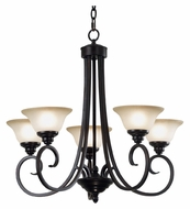 Kenroy Home 80475ORB Welles 5 Lamp Oil Rubbed Bronze Traditional Chandelier Lighting