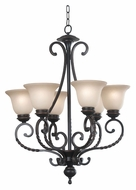 Kenroy Home 10196ORB Oliver 6 Lamp 35 Inch Diameter Oil Rubbed Bronze Traditional Chandelier Light