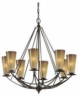 Feiss F26068MBZ El Nido 8-Light Contemporary Chandelier