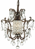 Feiss F1879-1-BRB Maison de Ville Traditional 1-light Chandelier in British Bronze