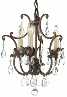Feiss F1880-3-BRB Maison de Ville Traditional 3-light Chandelier in British Bronze