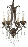 Feiss F1881-4-BRB Maison de Ville Traditional 4-light Chandelier in British Bronze