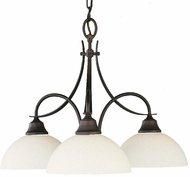 Feiss F1885-3-ORB Boulevard Collection 3 Light Mini Chandellier