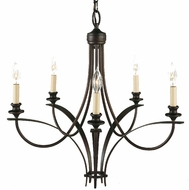 Feiss F1888-5-ORB Boulevard Collection 5 Light Chandelier