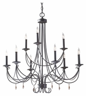 Feiss F2748/6+3RI Aliya Large 32 Inch Diameter 9 Candle Rustic Iron Chandelier Lighting