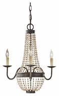 Feiss F2755/3PBR Charlotte 3 Light Peruvian Bronze Finish Traditional Candelabra Chandelier Lighting