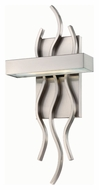 Nuvo 62-104 Wave 17 Inch Tall LED Contemporary Brushed Nickel Lamp Sconce