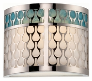 Nuvo 62-143 Raindrop 7 Inch Tall LED Polished Nickel Modern Sconce Lighting