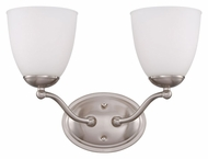 Nuvo 605032 Patton 15 Inch Wide Brushed Nickel Finish Bathroom Lighting Fixture