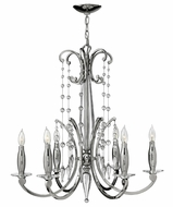 Fredrick Ramond 43626PNI Alexandra Medium 6-light Crystal Candle Chandelier Light
