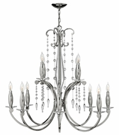 Fredrick Ramond 43628PNI Alexandra Large 12-lamp Candle Chandelier Lamp with Crystal