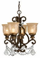 Crystorama 7504-BU-CL-MWP Norwalk Clear Crystal 21 Inch Tall 4 Lamp Mini Chandelier - Bronze Umber